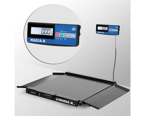 Весы 4D-LA-10/10-1500-A(RUEW) напольные электронные низкопрофильные до 1500 кг