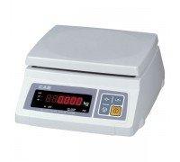 Весы CAS SWII-30 P электронные фасовочные со стойкой до 30 кг