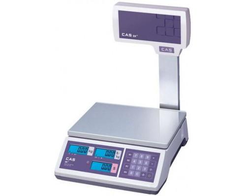 Весы CAS ER JR-06CBU электронные торговые со стойкой до 6кг