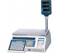 Весы CAS LP-30 R электронные с печатью этиеток со стойкой