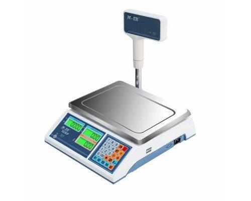 Весы M-ER 322ACPX-15.2 LCD Ibby электронные торговые со стойкой до 15 кг