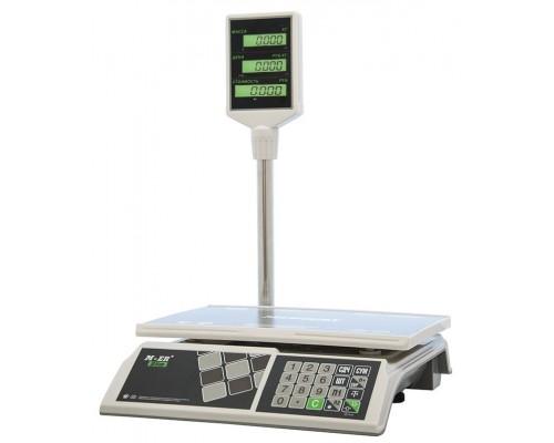 Весы M-ER 326ACP-15.2 LCD электронные торговые со стойкой до 15 кг