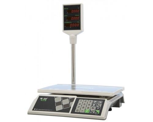 Весы M-ER 326ACP-15.2 LED электронные торговые со стойкой до 15 кг