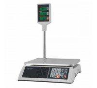 Весы M-ER 327P-15.2 LCD элеткронные торговые со стойкой до 15 кг