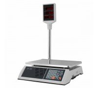 Весы M-ER 327P-15.2 LED элеткронные торговые со стойкой до 15 кг
