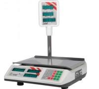 Весы Seller-15 SL-201P-15 LEDv2 Green электронные торговые со стойкой до 15 кг