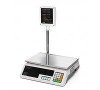 Весы Seller-15 SL-202P-15 LED электронные торговые со стойкой до 15 кг